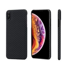 Чехол Pitaka MagCase для iPhone XS Max Twill (черно-серый)