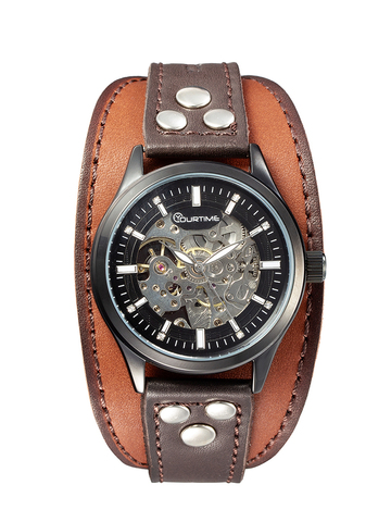 Часы скелетоны мужские механические Warrior YOURTIME