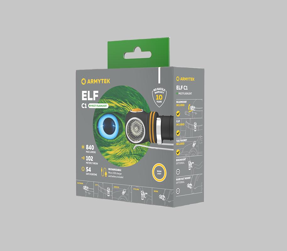 Мультифонарь Armytek Elf C1 Micro USB (теплый свет) - фото 5
