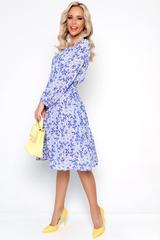 <p>Роскошь, элегантность и утонченность-все это о нашем платье из новой коллекции. Изящное платье из воздушной ткани. Талия и рукав на резике. Платье без застежки, на подкладе с поясом.&nbsp;</p>