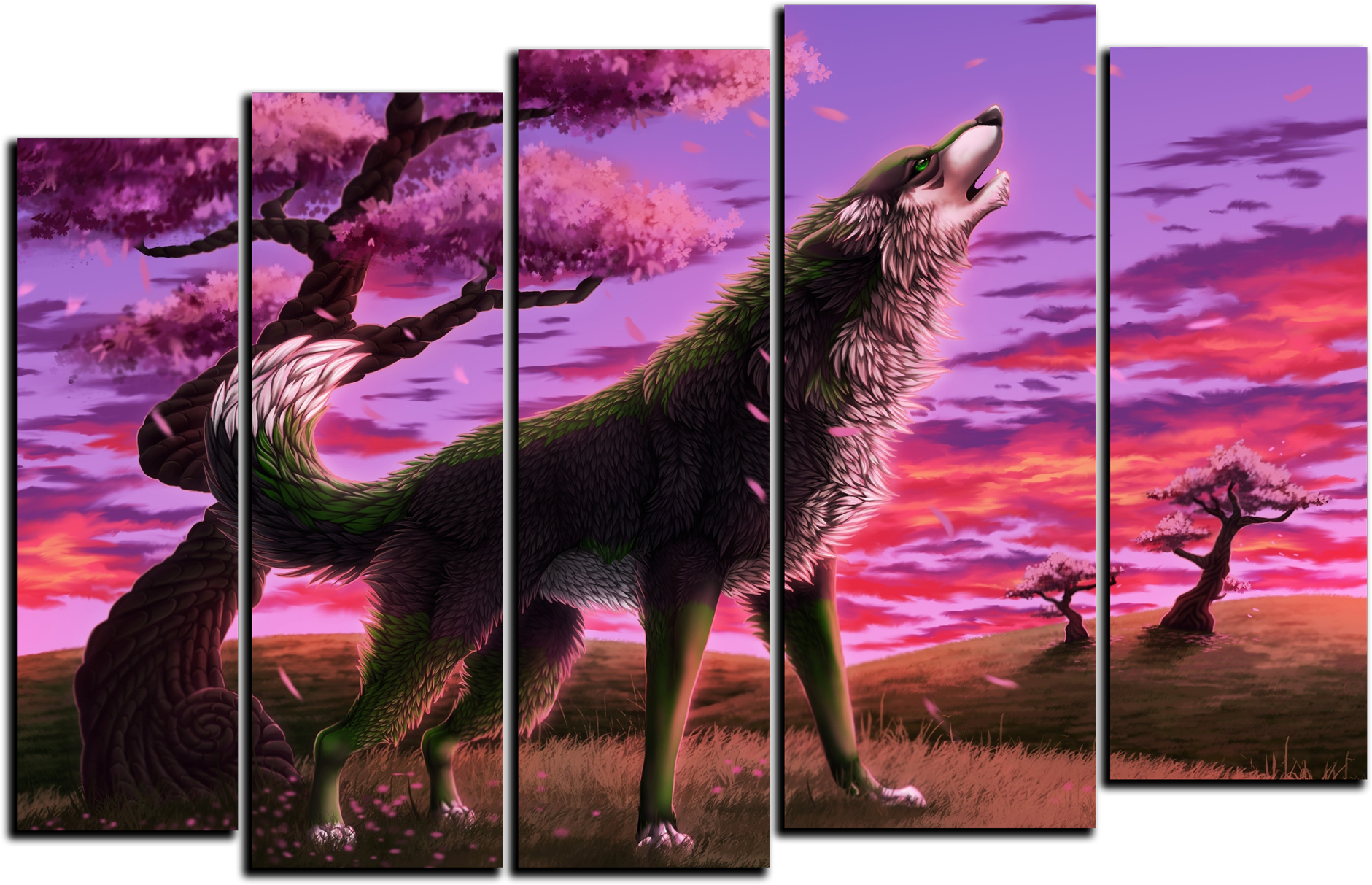 "Животные Модульная картина ""Волк на закате"" М384.png"