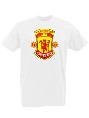 Футболка с принтом FC Manchester United (ФК Манчестер Юнайтед) белая 0002