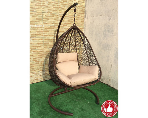 Подвесное кресло Сакала коричневое