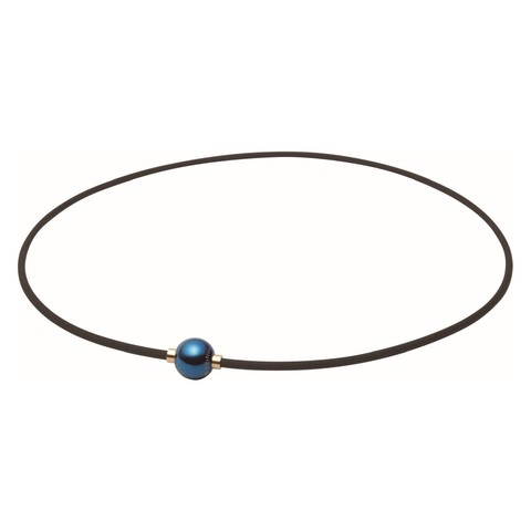 Ожерелье PHITEN RAKUWA NECKLACE METAX MIRROR BALL (синий)
