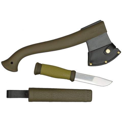 Набор Morakniv Outdoor Kit MG, нож Mora 2000 + топор (зеленый)