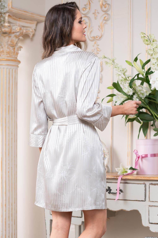 Короткий халат Josephine с центральной застежкой на пуговицы