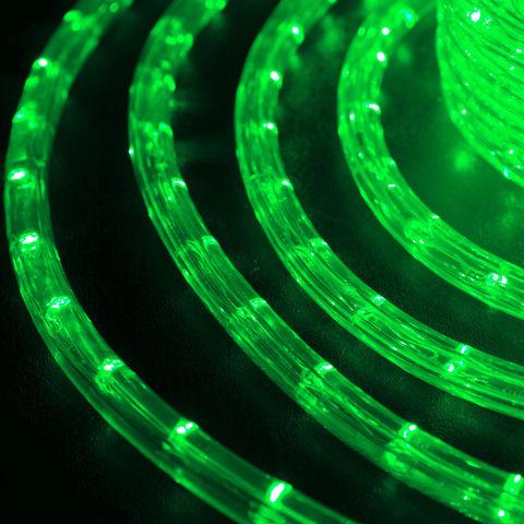 LED круглый дюралайт 10 метров светодиодного провода зеленый цвет