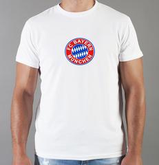 Футболка с принтом FC Bayern Munchen (ФК Бавария) белая 009