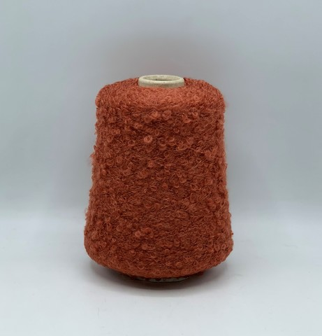 Filati BE.MI.VA (пр.Италия), art-MARION 300м/100гр, 30% мохер 30% альпака 24% вискоза 6% полиамид , цвет- Медно-терракотовый ,арт.10186