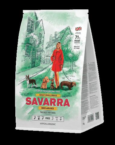 КупитьSavarra Adult Dog Small Breed Duck and Rice Сухой корм для взрослых собак мелких пород от 1 года до 7 лет с уткой и рисом