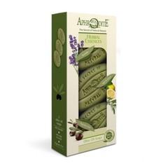 Набор оливкового мыла Ароматные травы 3 шт