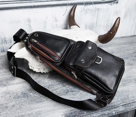 BAG415-1 Необычная сумка рюкзак с одной лямкой, несколько отделений