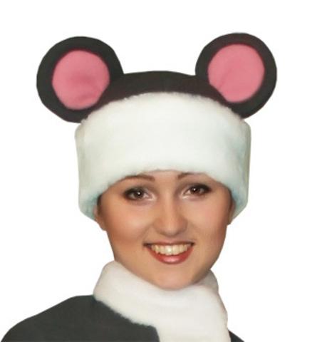 Карнавальная шапка Мышка