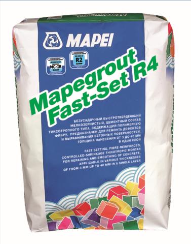 Mapei Mapegrout Fast-Set R4/Мапей Мапеграут Фаст-Сет Р4 быстротвердеющий,тиксотропный цементный состав класса R4 для конструкционного ремонта бетона