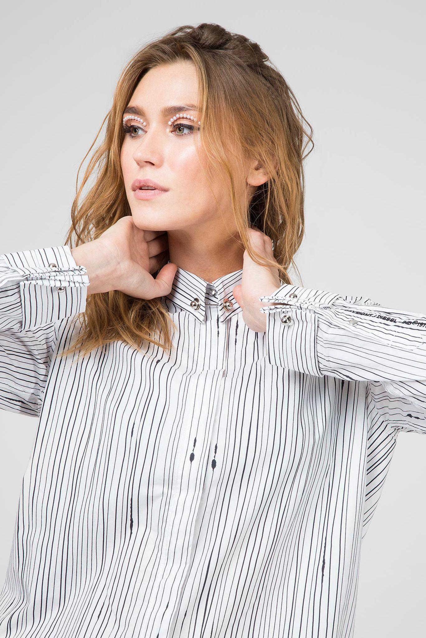 Женское платье-рубашка в полоску D-RAILY-LONG-A Diesel