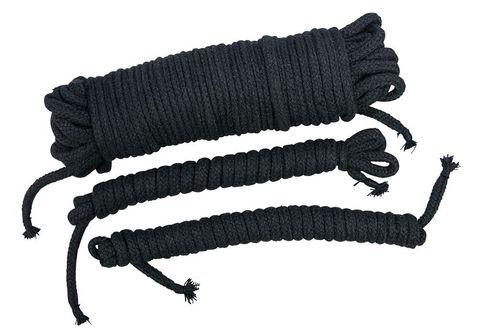 Чёрные хлопковые верёвки для бондажа