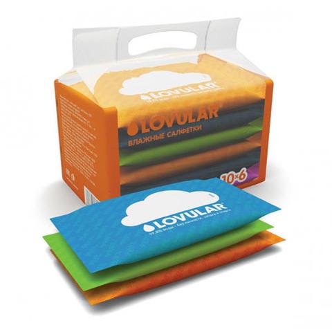 Салфетки влажные LOVULAR 6*10 шт/уп набор