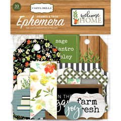 Набор высечек Welcome Home Frames & Tags  Ephemera, 33 шт
