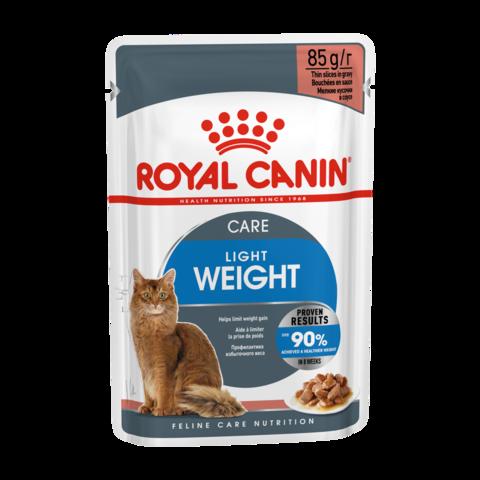 Royal Canin Light Weight Консервы для взрослых кошек для профилактики избыточного веса кусочки в соусе (Пауч)