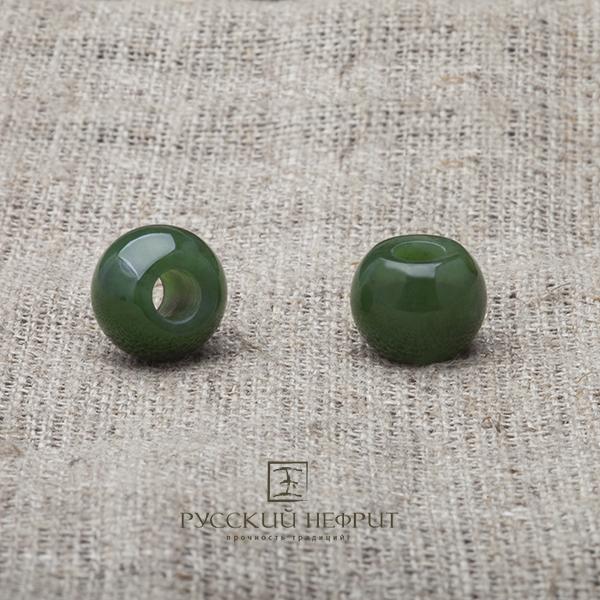 Бусины Шармы из зелёного нефрита. Малый. 1шт. busini15.jpg
