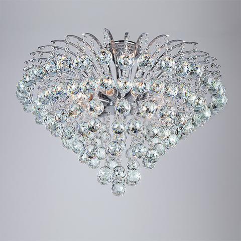 Потолочная люстра с хрусталем 3299/9 хром / прозрачный хрусталь