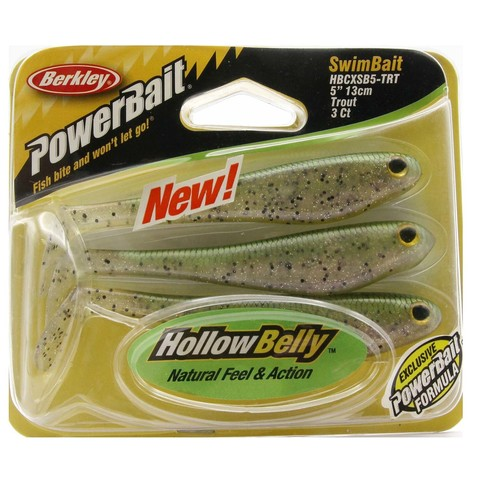 Приманка силиконовая Berkley Powerbait Hollow Belly Swim Baits HBCSB6-HBCSB5-TRT Trout 5