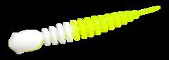 Силиконовые приманки Trout Bait Chub 65 (65 мм, цвет: Бело-лимонный, запах: чеснок, банка 12 шт.)