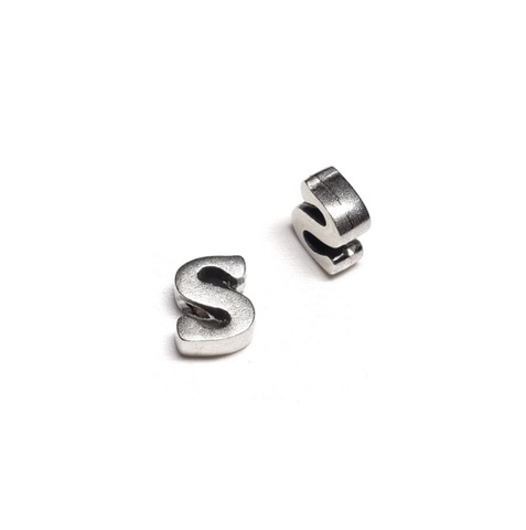 Alphabet letter S, sterling silver