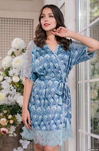Короткий запашной халат Mia-Amore 3243 VENECIA (70% шелк)