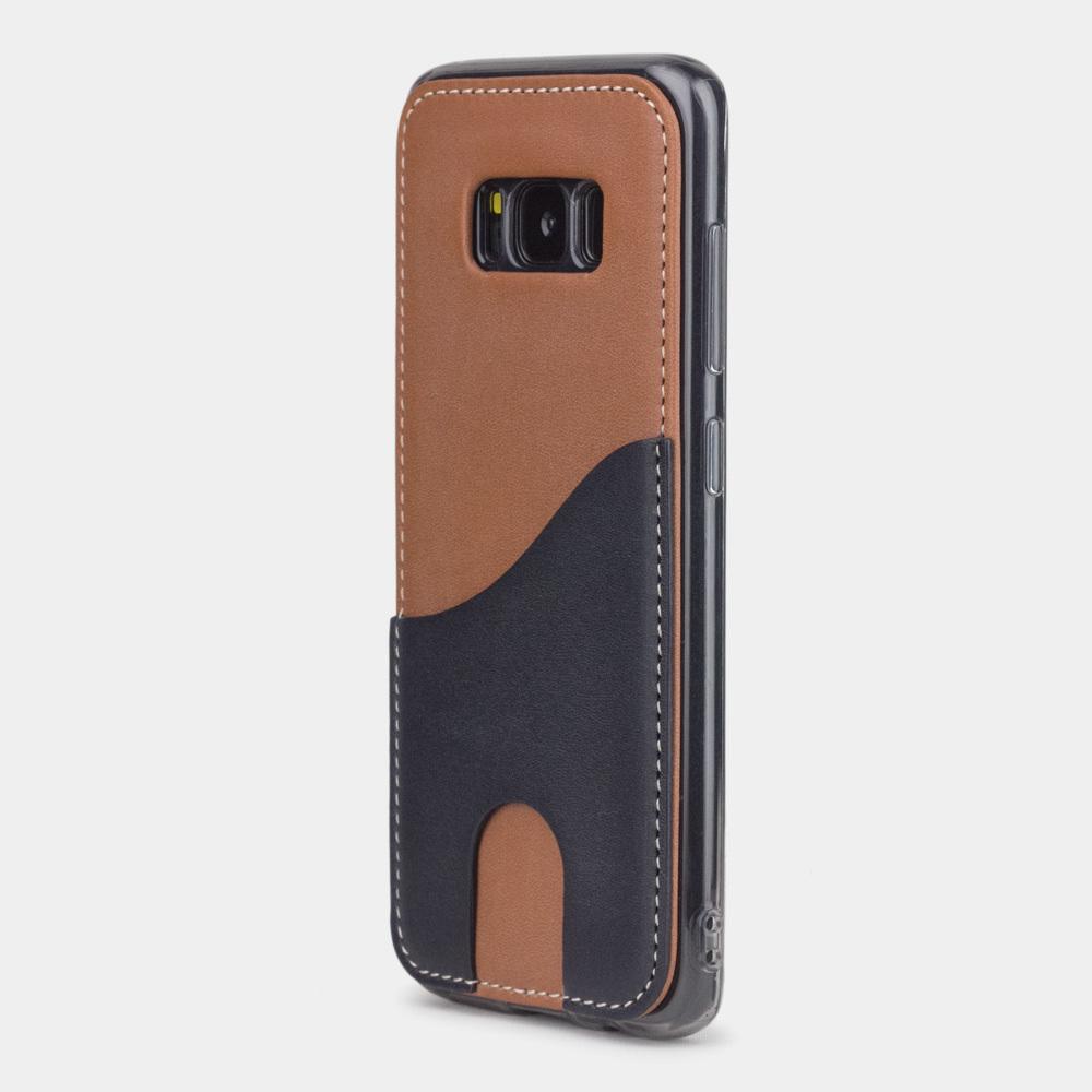 Чехол-накладка Andre для Samsung S8 из натуральной кожи теленка, коричневого цвета