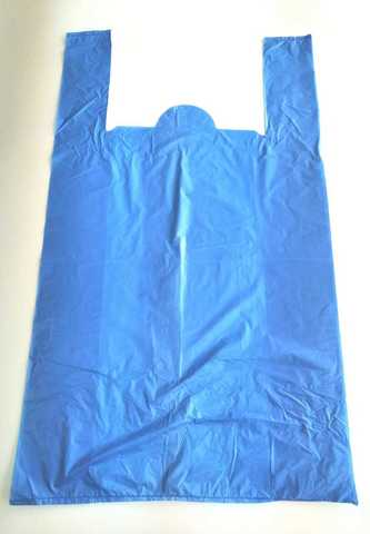 Пакет синий, размер 74х44х20см 20мкм