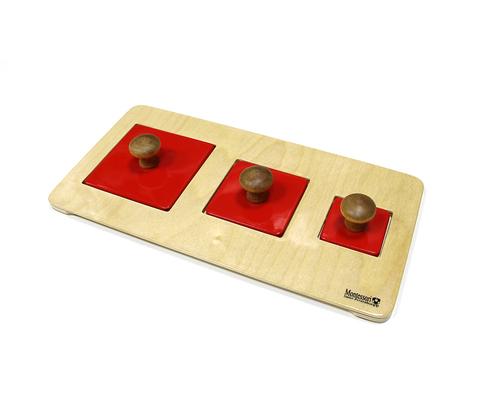 Геометрические пазлы: квадраты на подставке