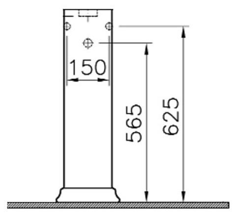 Пьедестал для раковины Serenada Vitra 4168B003-0156 схема