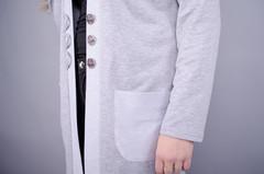 Кардо. Стильний жіночий кардиган великих розмірів. Сірий.