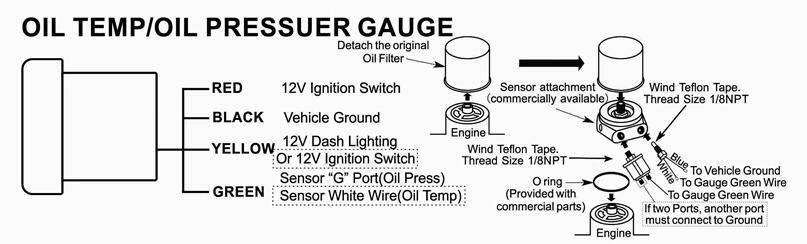 Инструкция по подключению датчик температуры масла двигателя
