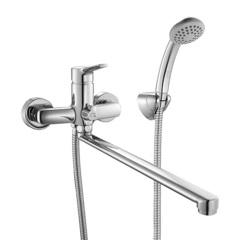 Смеситель для ванны Milardo Enisey ENISBLCM10 с длинным изливом и керамическим дивертором