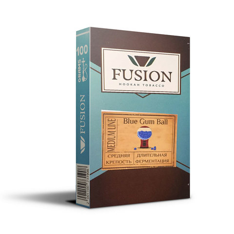Табак Fusion Medium Blue Gum Ball 100 г