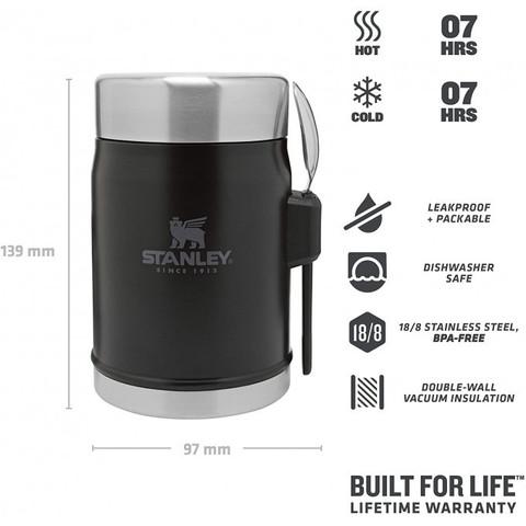 Картинка термос для еды Stanley classic 0.4l черный - 2