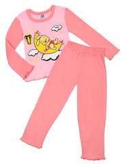 Z003-1 комплект для девочек (джемпер, брюки), розовый