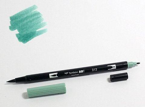 Маркер-кисть Tombow ABT Dual Brush Pen-312, зеленый падуб