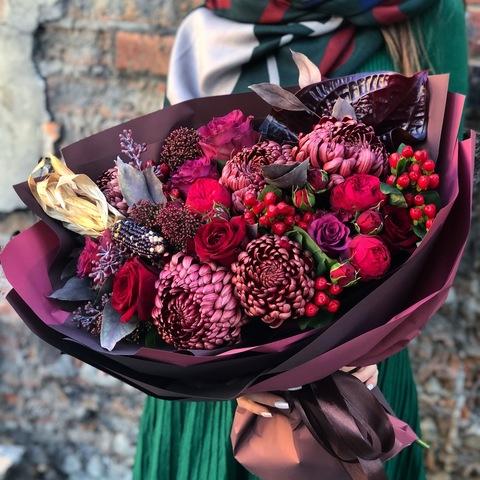 Букет Багряная осень #15639