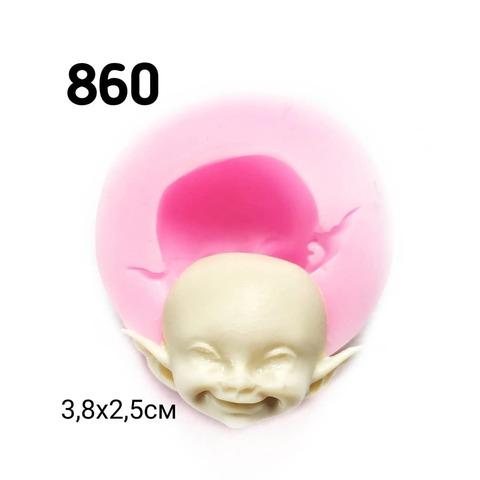 0860 Молд силиконовый. Голова  (лицо) эльфа.