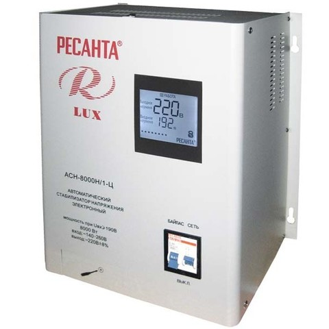 Стабилизатор напряжения Ресанта АСН LUX 8000 Н/1-Ц