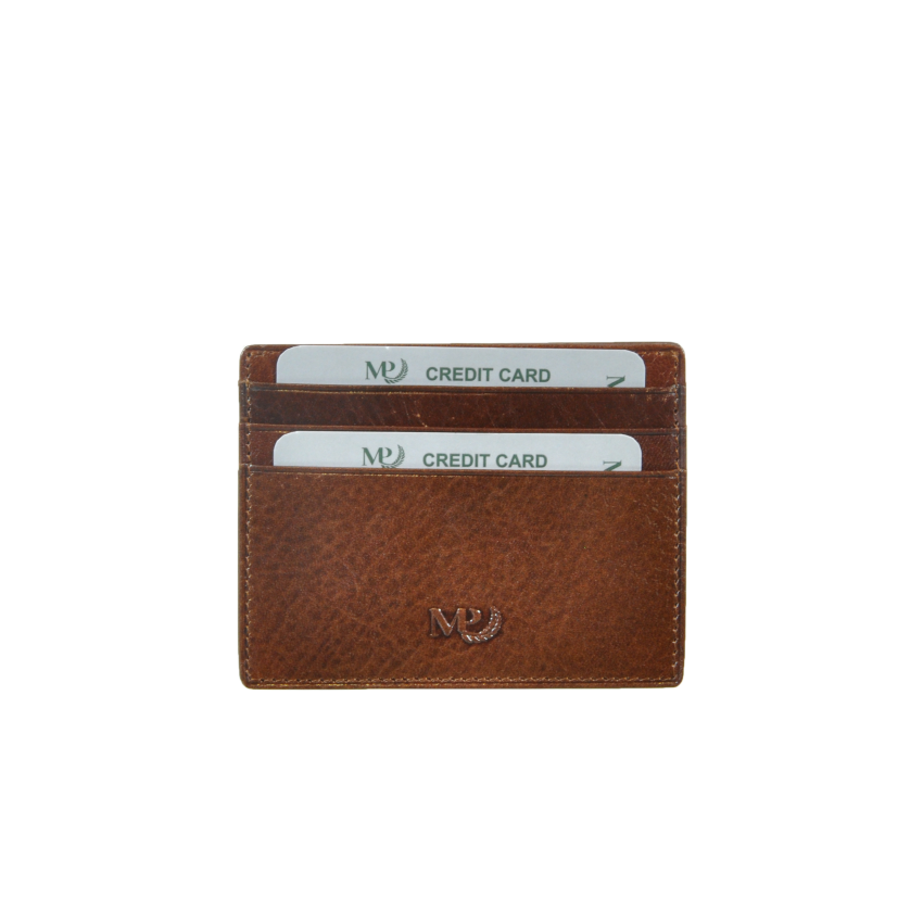 B120253R Cognac - Футляр для карт MP с RFID защитой