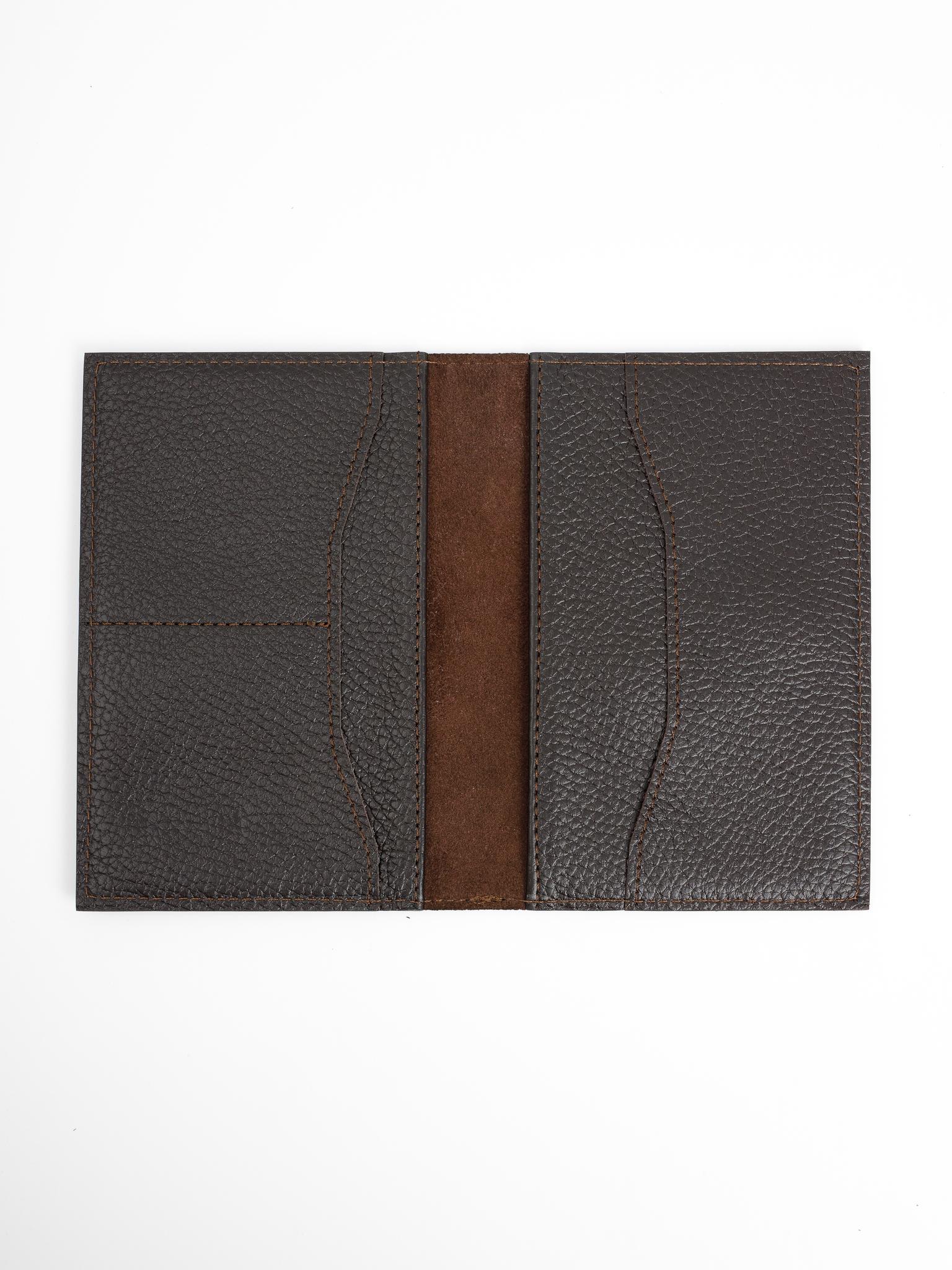 Обложка для паспорта с карманами | Коричневый