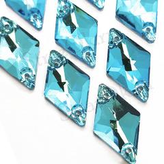 Купить бирюзовые пришивные стразы Aquamarine, Romb