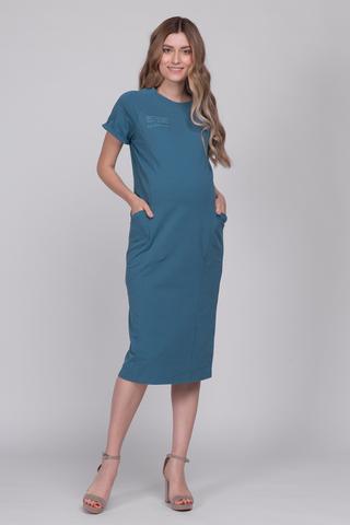 Платье для беременных и кормящих 12657 морской