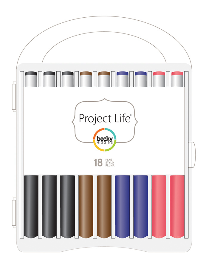 Набор архивных маркеров Project Life 18 шт.