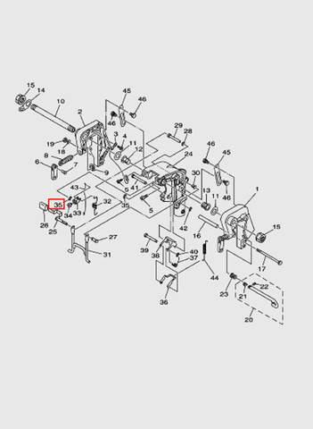 Кольцо стопорное  для лодочного мотора T15, OTH 9,9 SEA-PRO (13-35)