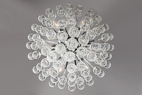 Потолочная люстра с хрусталем 3299/6 хром / прозрачный хрусталь